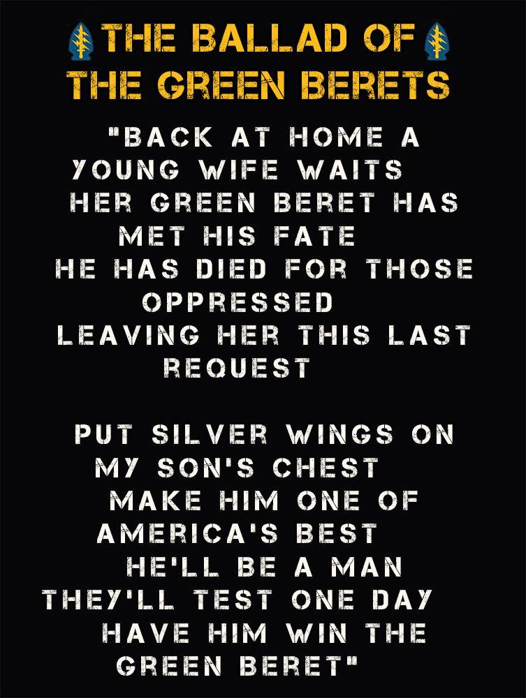 Johnny Cash - Ballad Of The Green Beret Lyrics | MetroLyrics