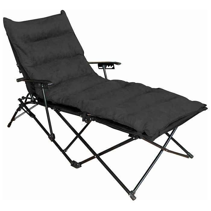 Redford Folding Chaise Lounge Carry Bag Black Microsuede Outdoor Folding Chairs Chaise Lounge Chair Outdoor Lounge