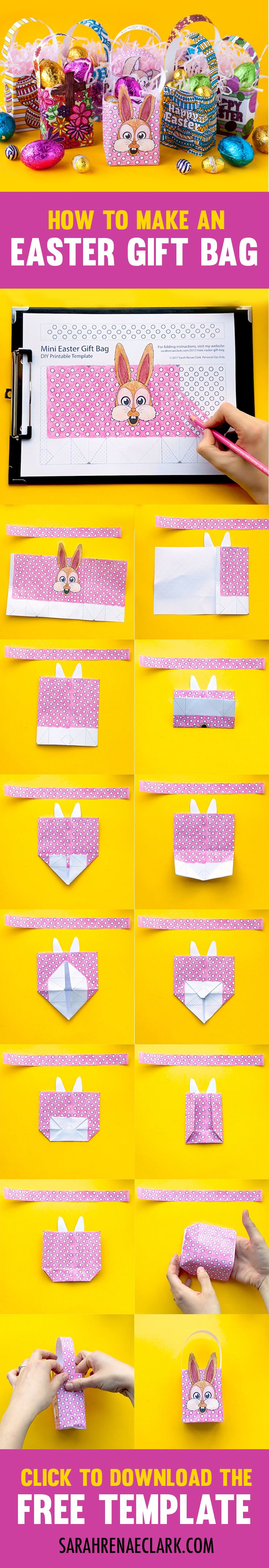 How to make a mini easter gift bag easter tutorials and gift how to make a mini easter gift bag negle Gallery