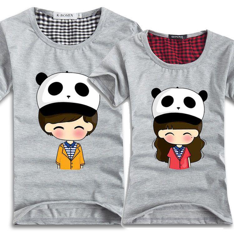Cartoon Couple Design Tees Shirts Couple Tee Tops T Shirt: Pin By Eunice Ledesma On Shirt Printing