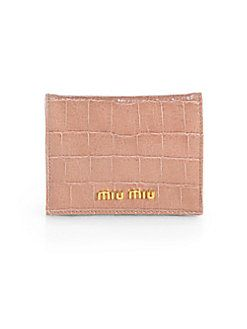Miu Miu - Embossed Leather Card Case