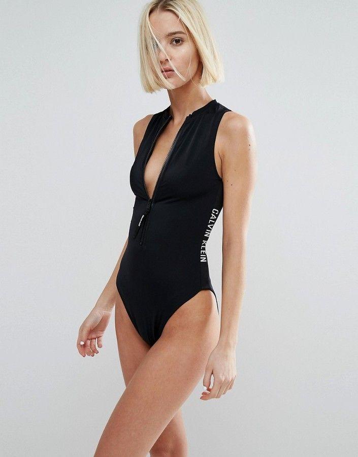 22ba1797b23 Calvin Klein Cheeky Vest Swimsuit   Swimsuits in 2019   Calvin klein ...