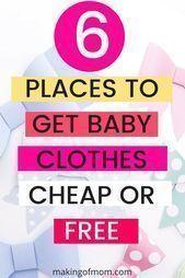 Wo man billige Babykleidung kaufen kann: 6 Orte, an denen man billige … – #bab…