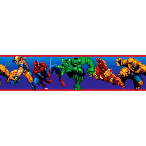 Marvel Heroes Peel & Stick Wall Border. Perfect for Ethan