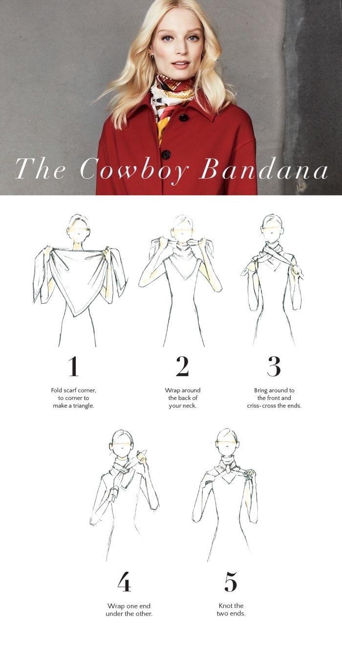 1001 + techniques et idées comment nouer un foulard et le