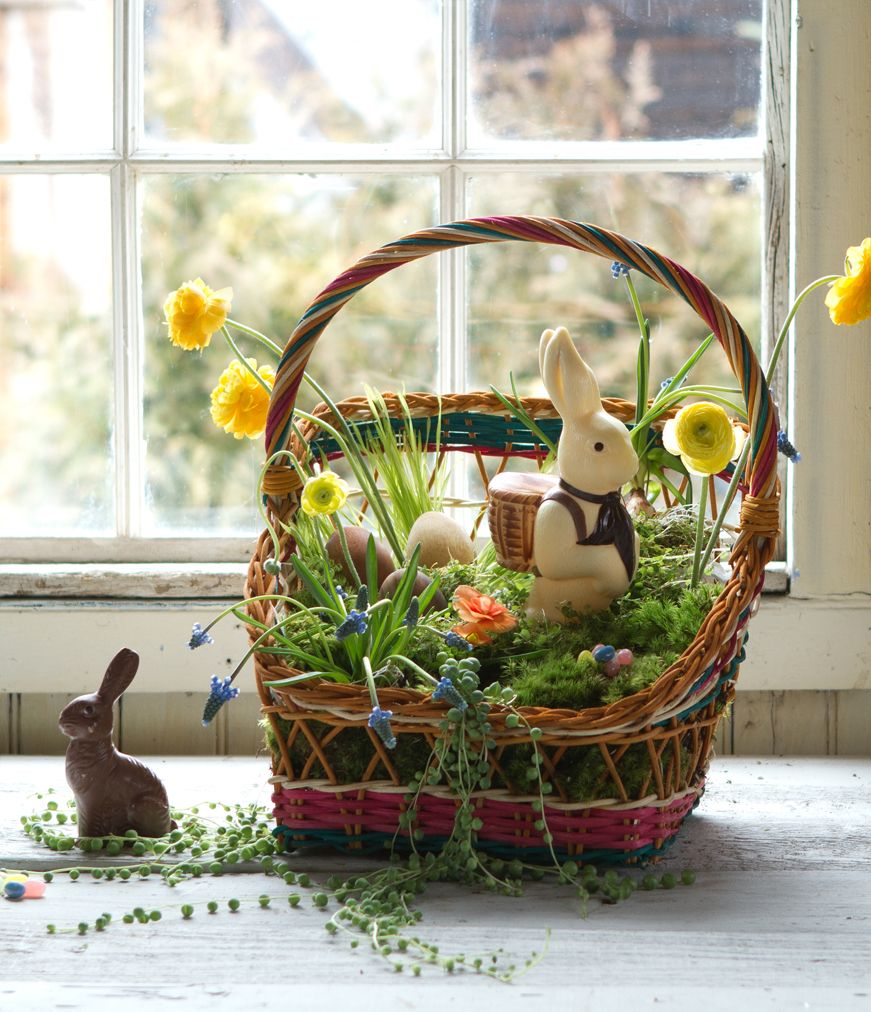 Create Natural Easter Basket With Color See More Ideas At