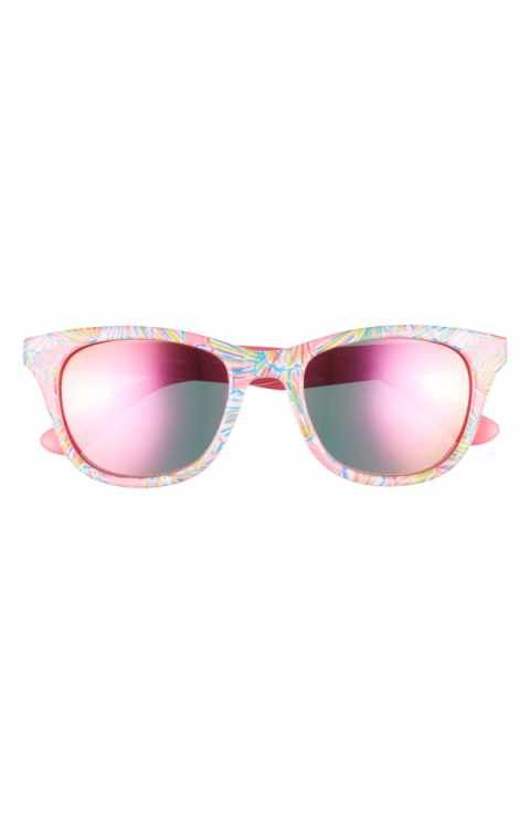 d64cd6e11d8 Lilly Pulitzer® Maddie 52mm Polarized Mirrored Sunglasses ...
