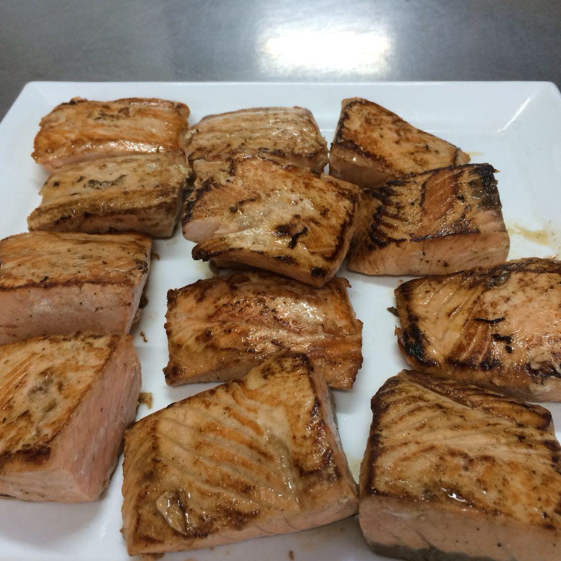 Salmon a la planca Food, Pork, Meat