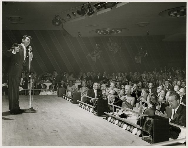 photograph of dean martin and celebrity audience sands hotel copa rh pinterest com Sands Copa Room Copa Room Palm Springs