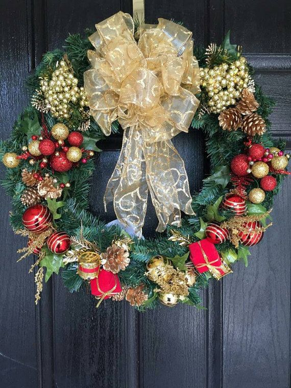 Check out this item in my Etsy shop https://www.etsy.com/listing/479544409/christmas-wreath-for-front-door