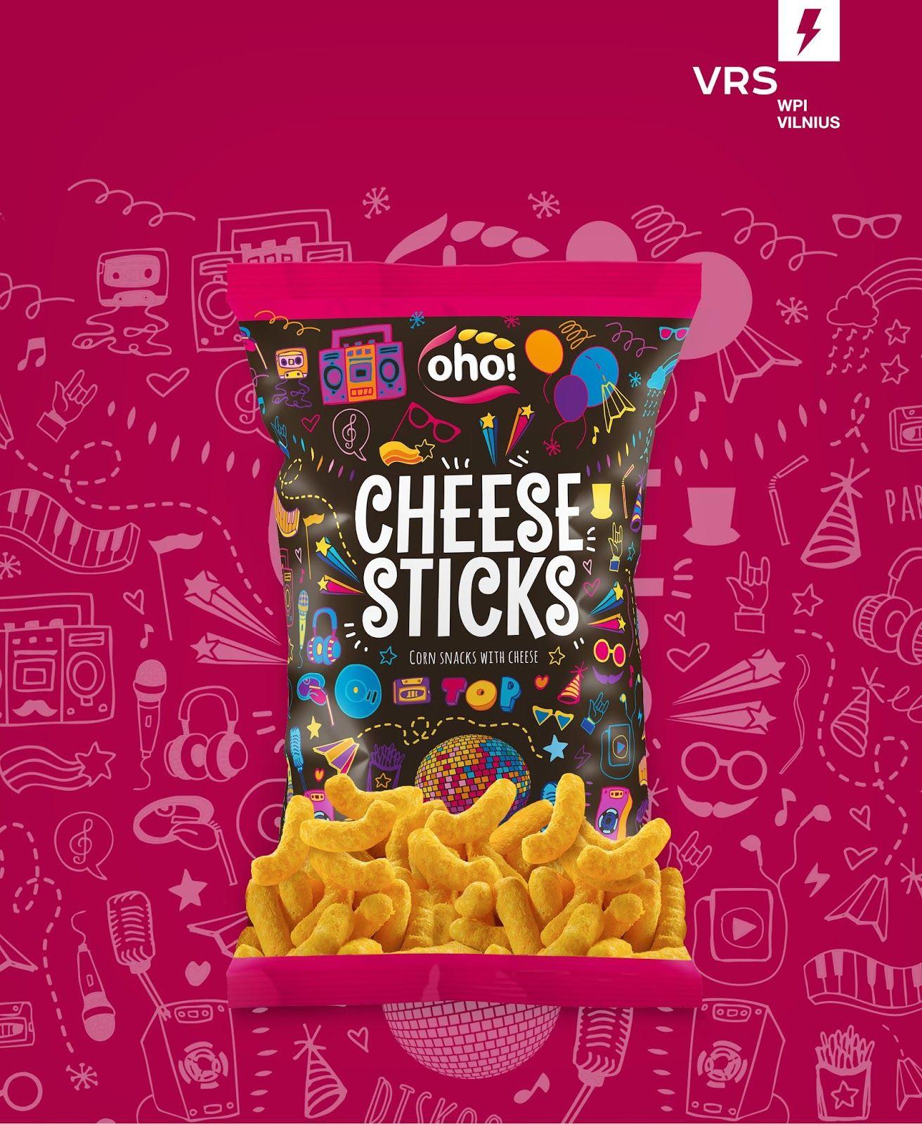 Oho! Balls & Sticks Chip packaging, Food packaging