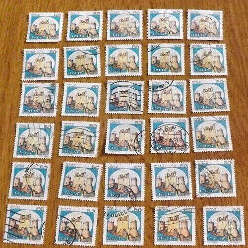 50 Lire Serie Castelli Rocca Di Calascio 1980 30 Valori