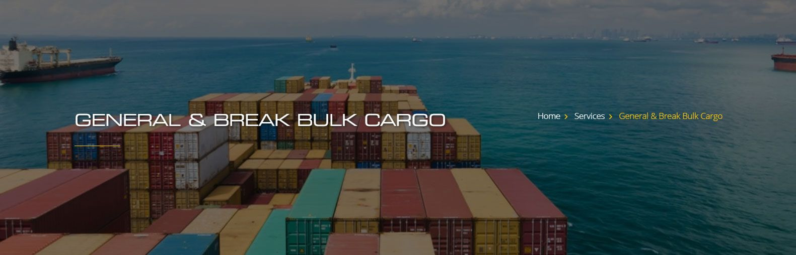General Break Bulk Cargo Shipping Services Dubai | Logtrans