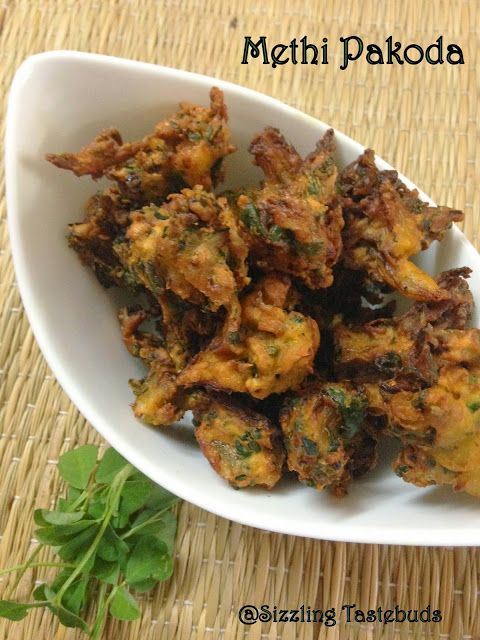 Sizzling tastebuds methi pakora deep fried fenugreek fritters try the methi pakoras recipe and serve it for perfect evening snack to enjoy in a rainy or winter season with a hot cup of tea forumfinder Gallery