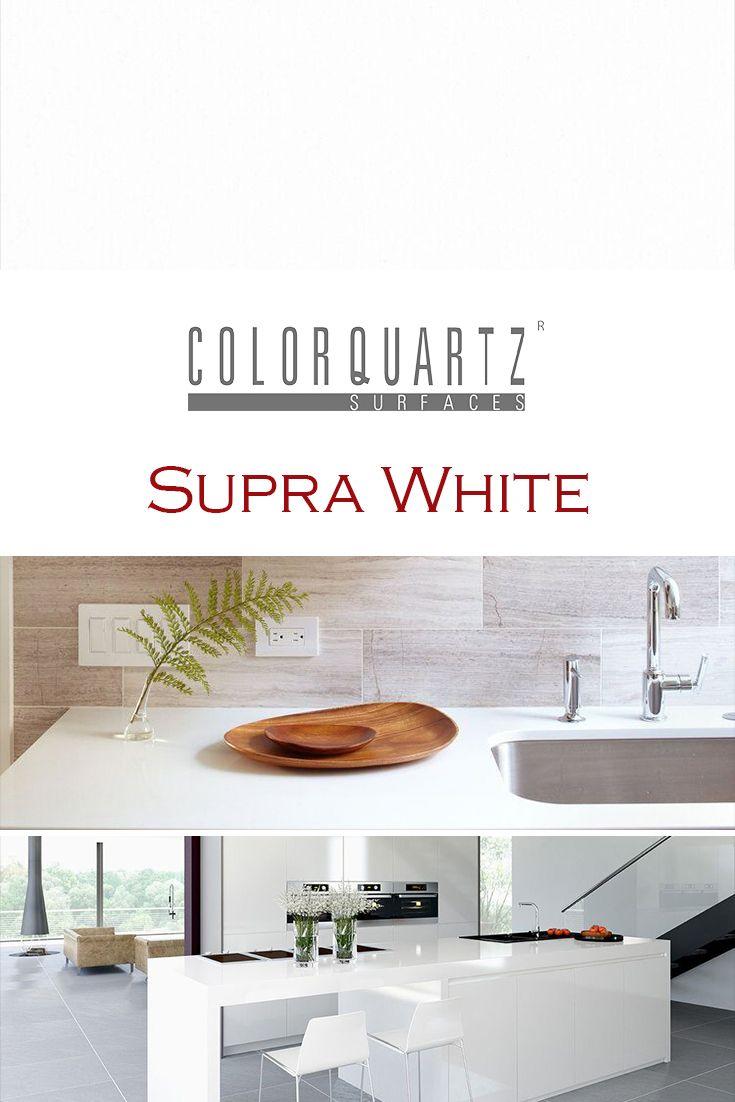 Supra White by Color Quartz is perfect for a kitchen quartz ...