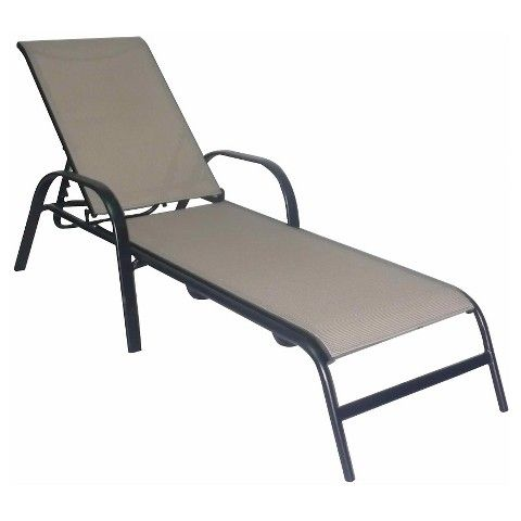 Stack Sling Patio Lounge Chair Tan - Room Essentials™  sc 1 st  Pinterest : target chaise lounge - Sectionals, Sofas & Couches