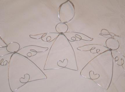 Engel Aus Draht Schutzengel Advent Und Weihnachten Basteln Schutzengel Basteln Weihnachtsdeko Geschenke