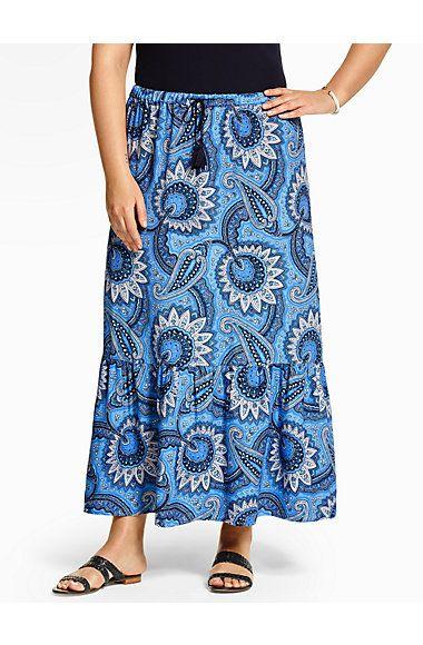 Ruffled Maxi Skirt - Patchwork Paisley - Talbots