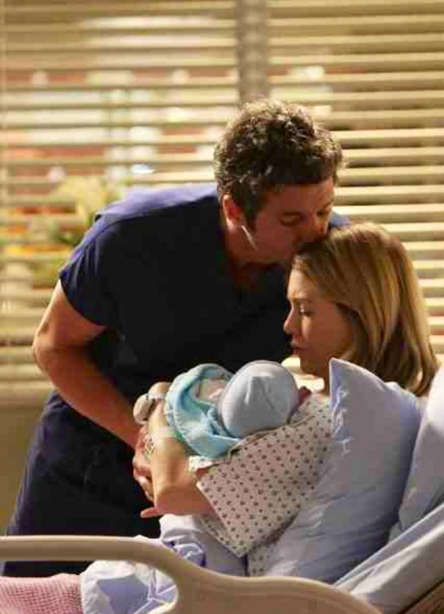 Derek & Meredith with their baby boy! | Grey\'s Anatomy | Pinterest ...