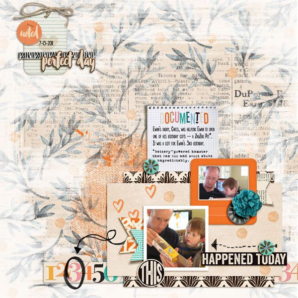 This Happened Today - March Template Challenge- One Little Bird - flight plan template