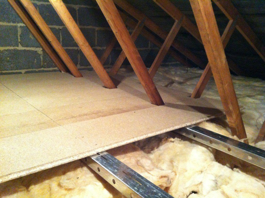 How To Floor Your Attic Without Wrecking Your Roof Https Www Moneypit Com Remodel It Interior Remodeling Attics Attic Flooring Loft Insulation Loft Flooring