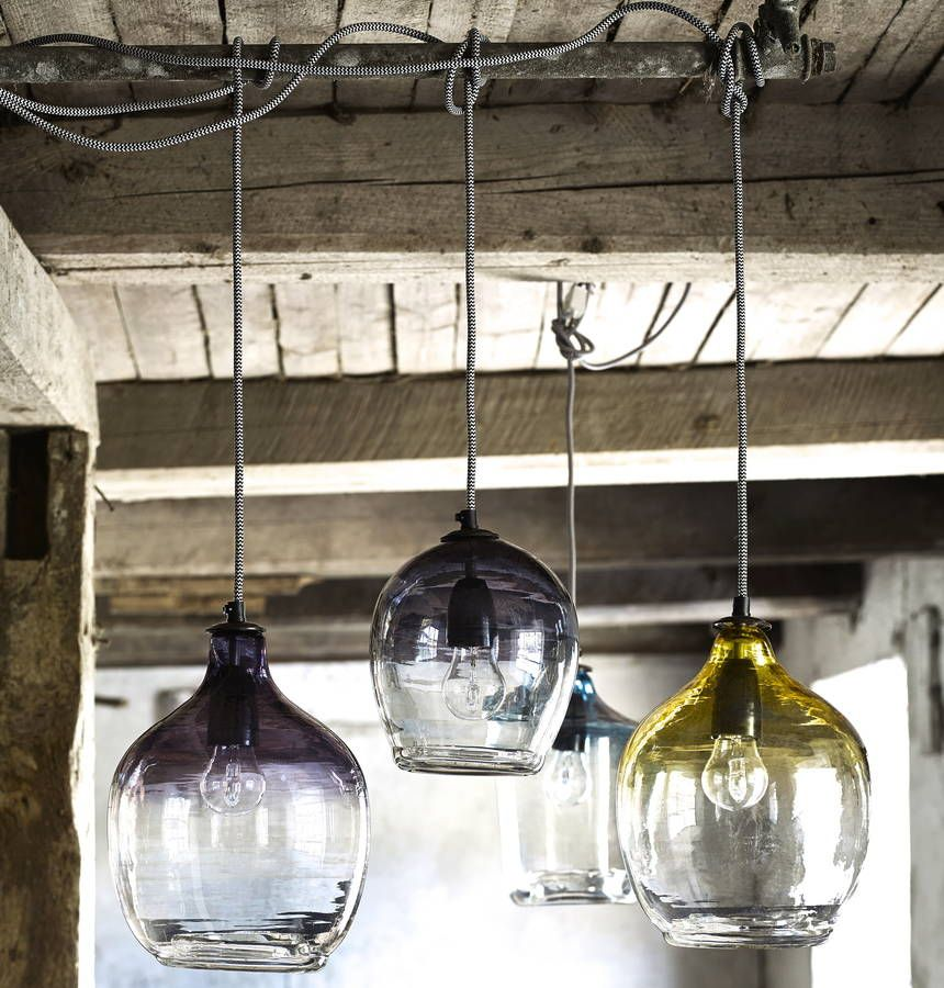 Eclectic hand blown glass pendant lights blown glass glass eclectic hand blown glass pendant lights mozeypictures Choice Image