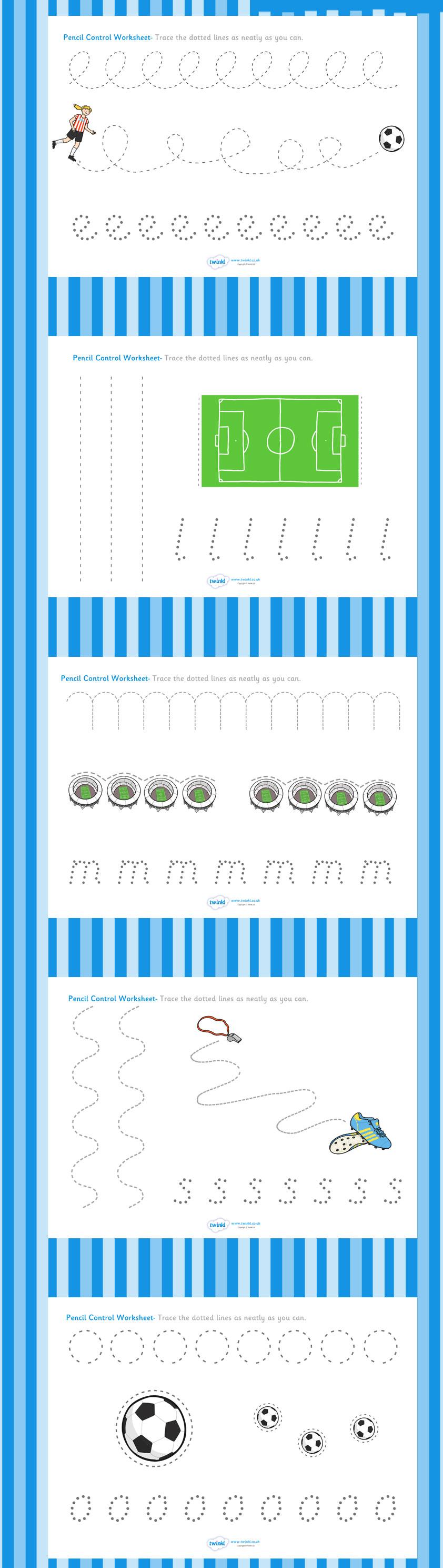 football world cup pencil control worksheets 1 bekkur schreib bungen bung vorschule bungen. Black Bedroom Furniture Sets. Home Design Ideas