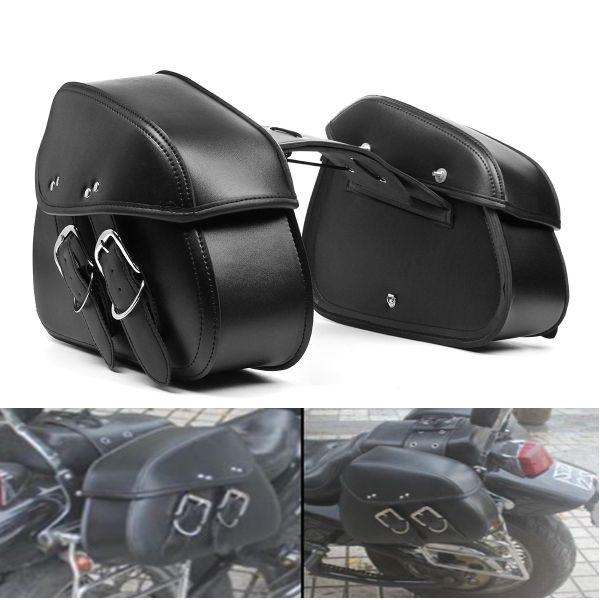 Moto PU Cuero Saddlebags Impermeable Silla de brazo