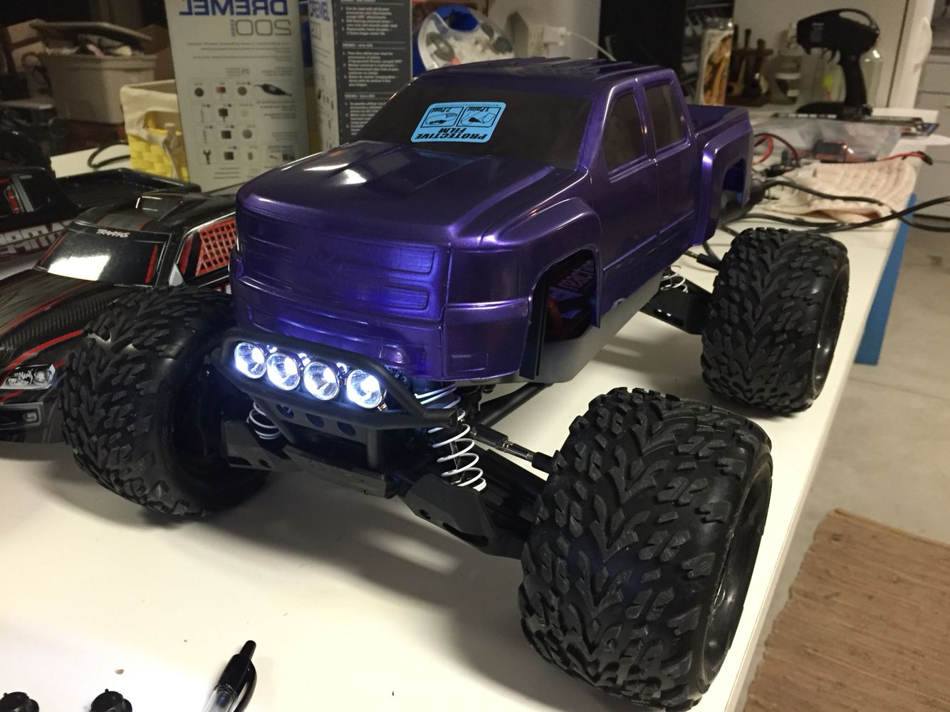 Stampede 4x4 Extended Front And Rear Body Mounts Proline Racing