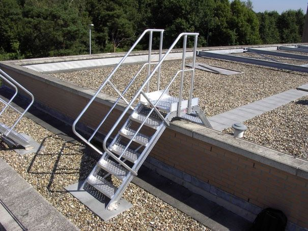 Roof Parapet Ladders are able to go over an obstruction on the roof