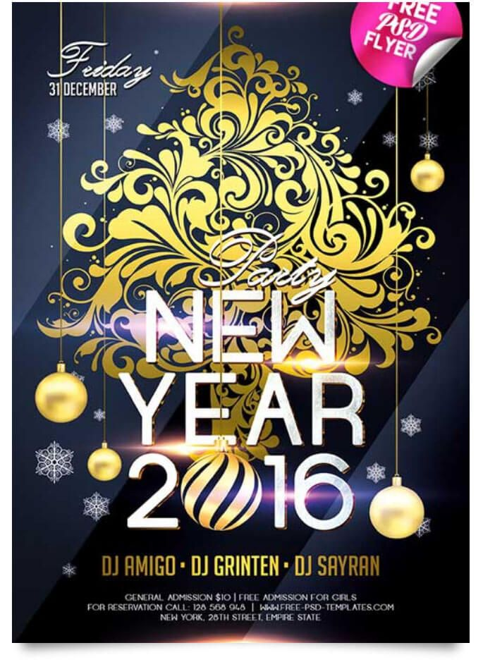 29 Free New Year Flyer Templates In PSD, Vector, AI Pinterest - free new years eve flyer template