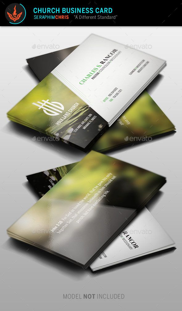 Church Business Card Template | Card templates, Business cards and ...