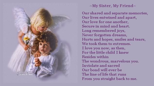 Thinking Of You Sister Poems Poems My Sister My Friend Poem