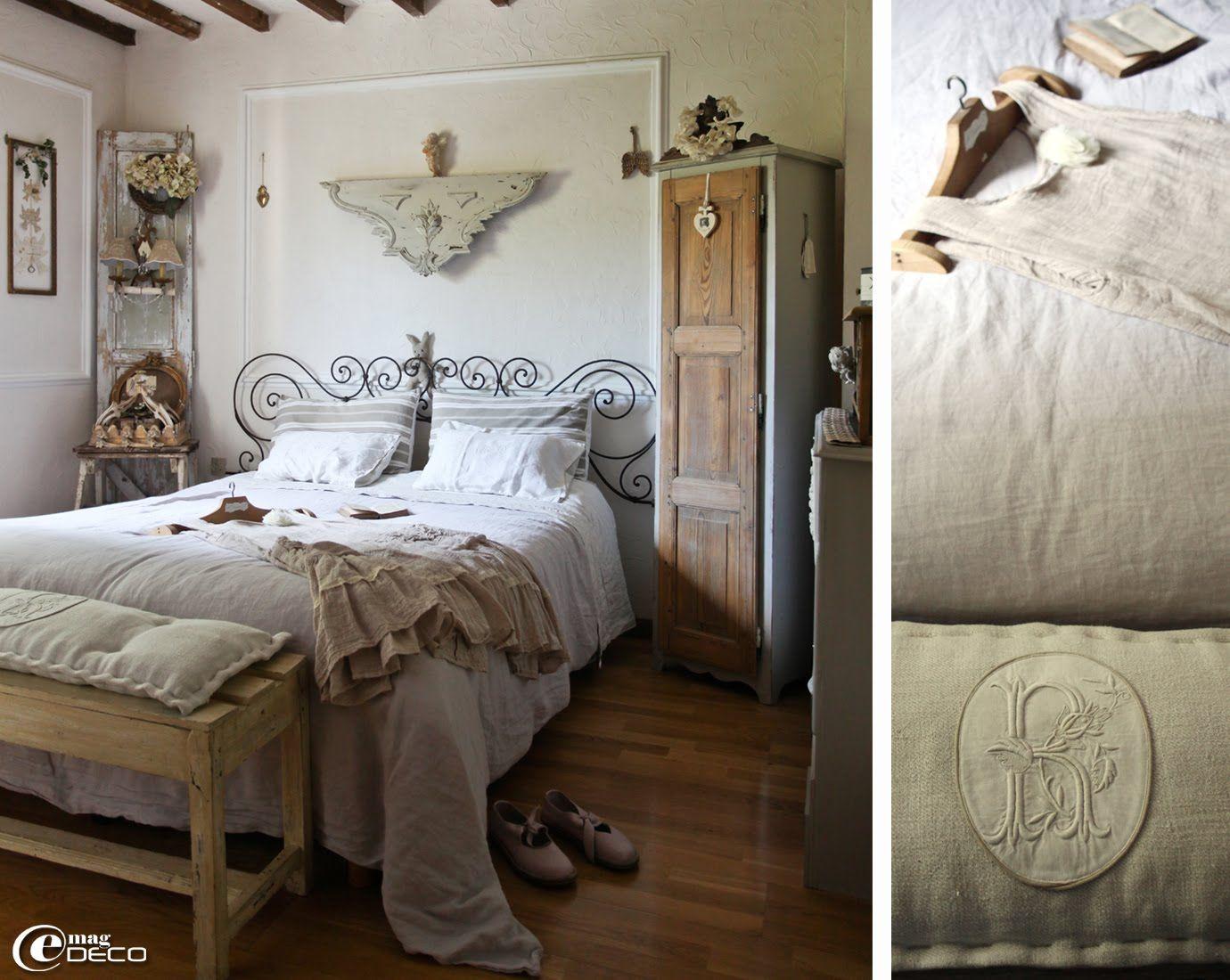 Deco Chambre Avec Lit En Fer une tête de lit réalisée avec des volutes récupérées sur un