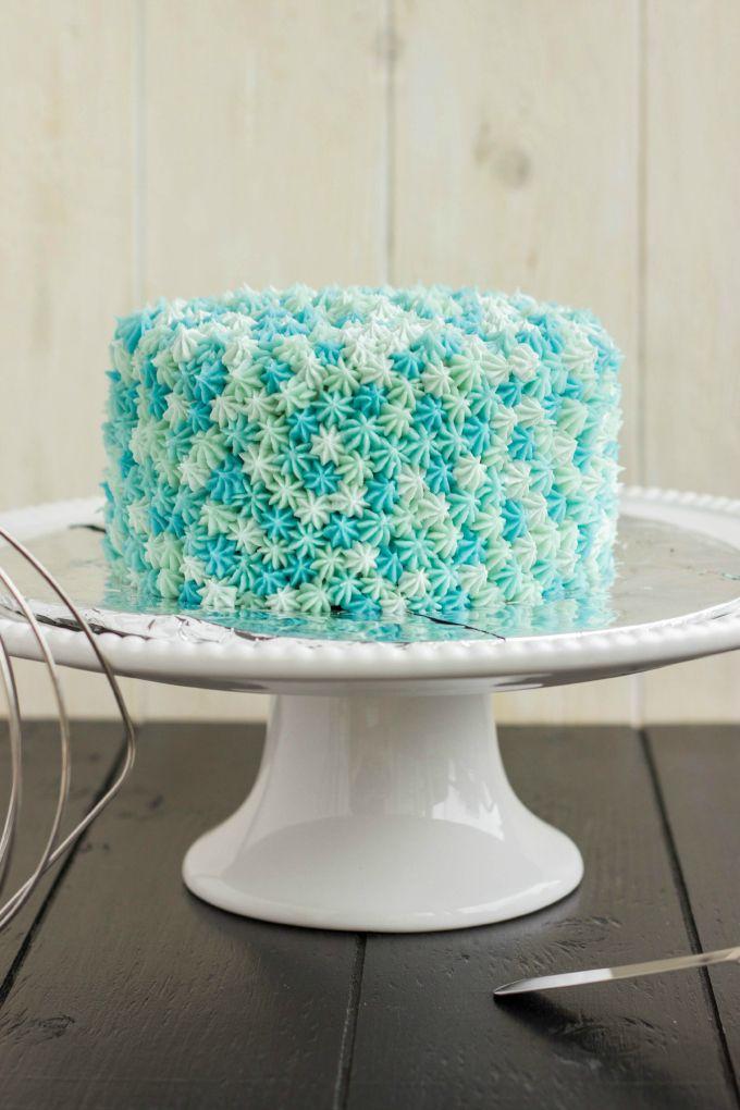Easy Star Tip Cake Decorating Idea Ocean Theme Novelty