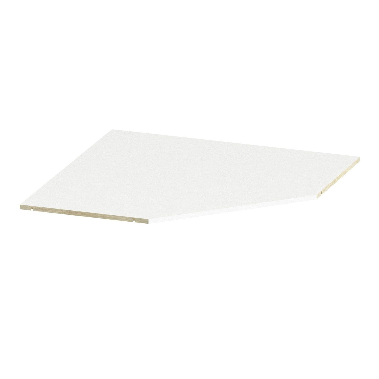 Tablette D Angle Spaceo Home 1 6 X 85 7 X 85 7 Cm Blanc Tablette D Angle Tablette Et Angles