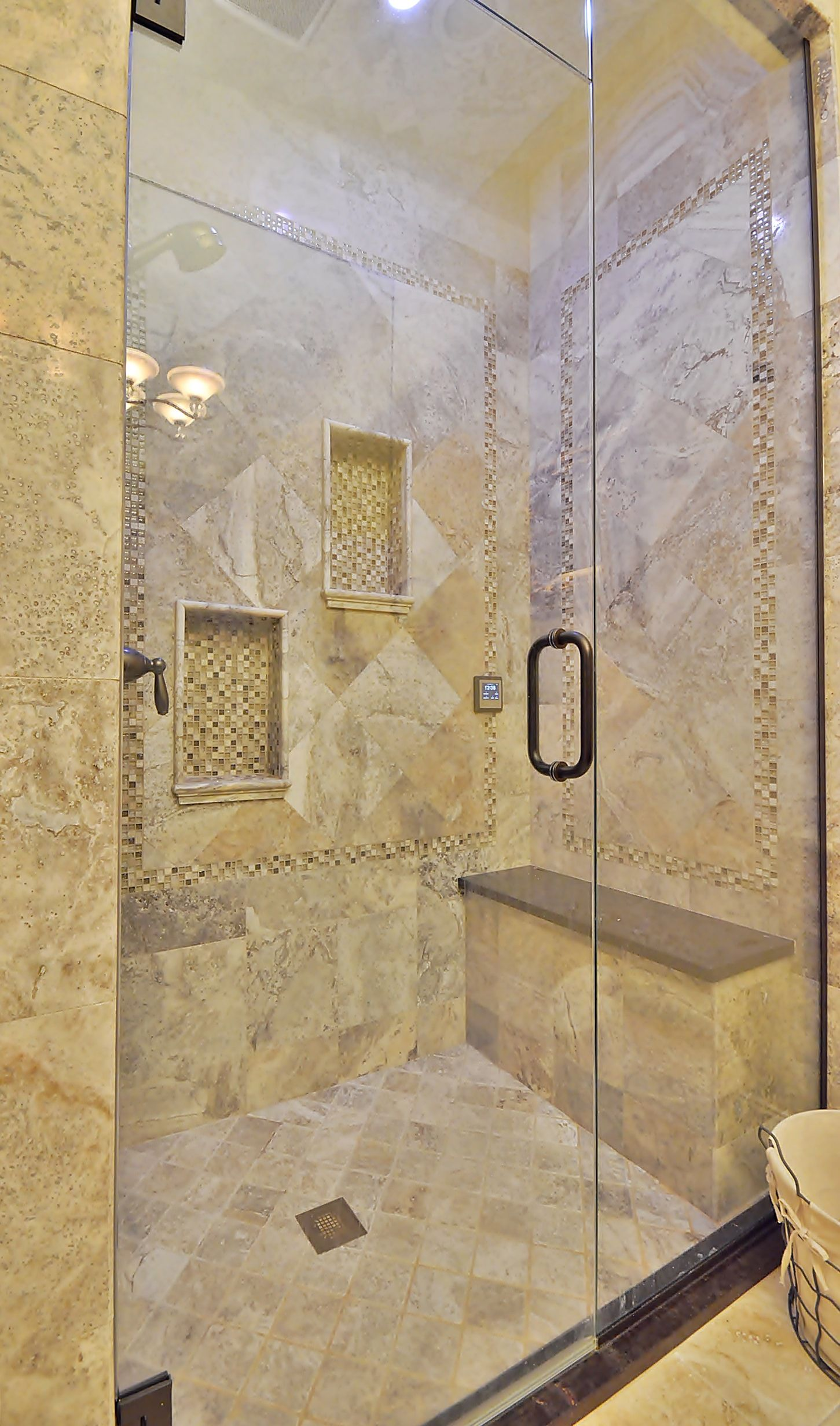 Steam spa shower- aromatherapy, steam & hydrotherapy, LED