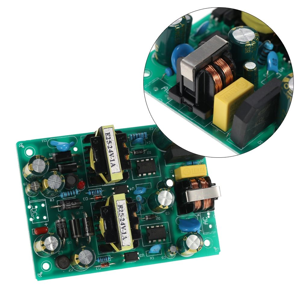 Stable Switching Power Supply Module Input Ac220v Output Dc24v 2a Protectors Circuit On Smps 48w Dual Channel With Short Overload Protection