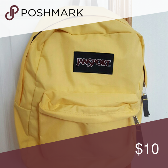 Classic Jansport Backpack In Bright Yellow Never Used
