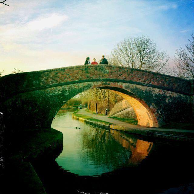 Foxton Locks, Leicestershire, UK..