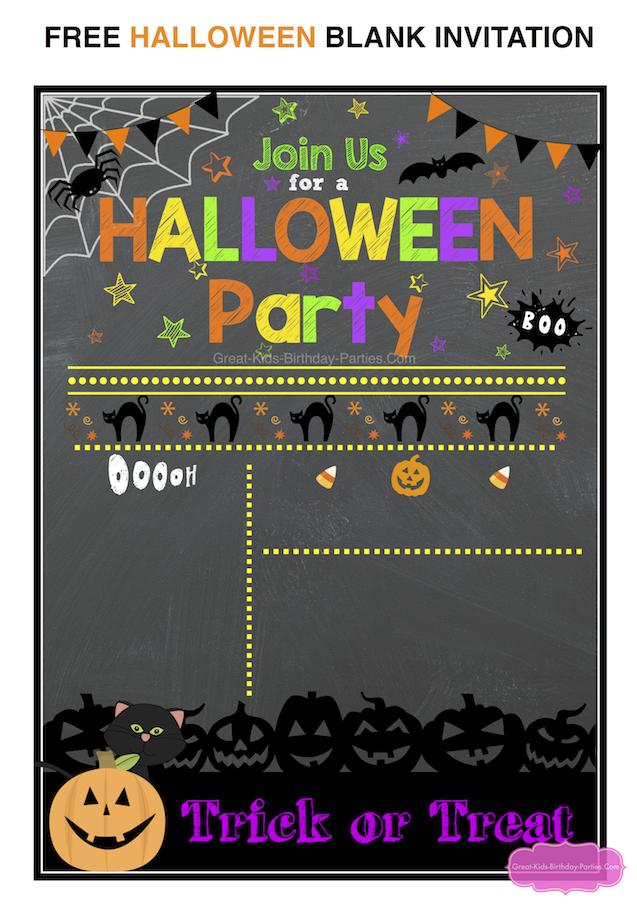 Free Halloween Printables Halloween Party Invitation Template Halloween Birthday Invitations Halloween Party Invitations