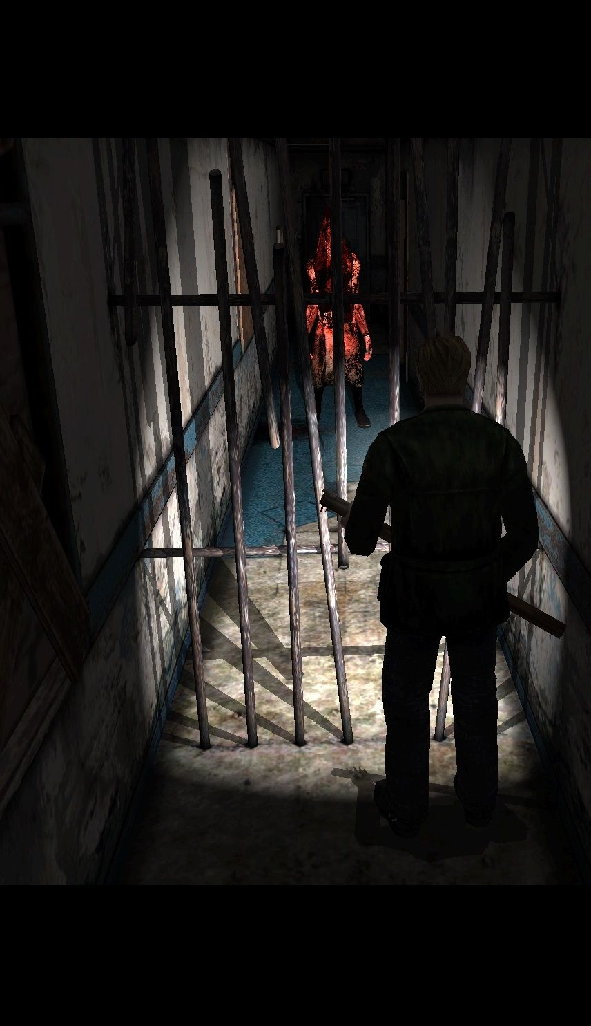Silent Hill 2 - Red Pyramid Head - The iron bar symbolize ...
