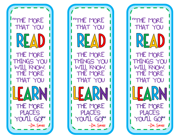 photo about Dr Seuss Bookmarks Printable called Dr. Seuss Bookmarks- starting up of calendar year items toward my pupils