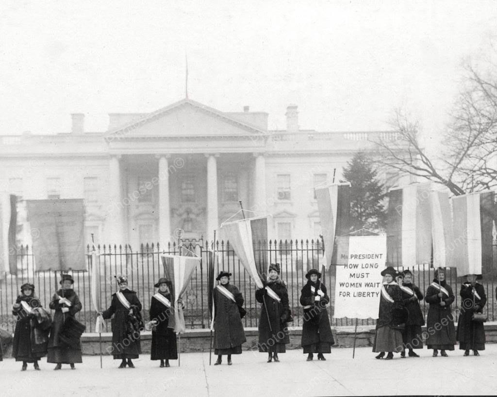 Suffragists Picket At White House 8x10 Reprint Of Old Photo   White ...