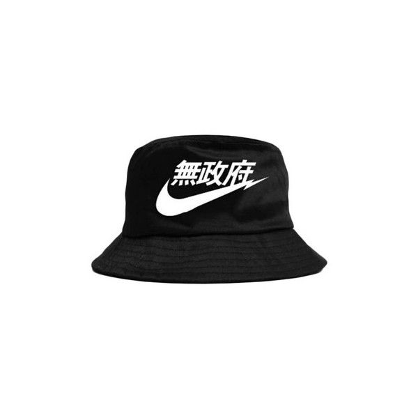 Tick Japanese Bucket Hat 17 Liked On Polyvore Featuring Accessories Hats Black Bucket Hats Nike Black Hat Fisherman H Trendy Hat Bucket Hat Nike Hat