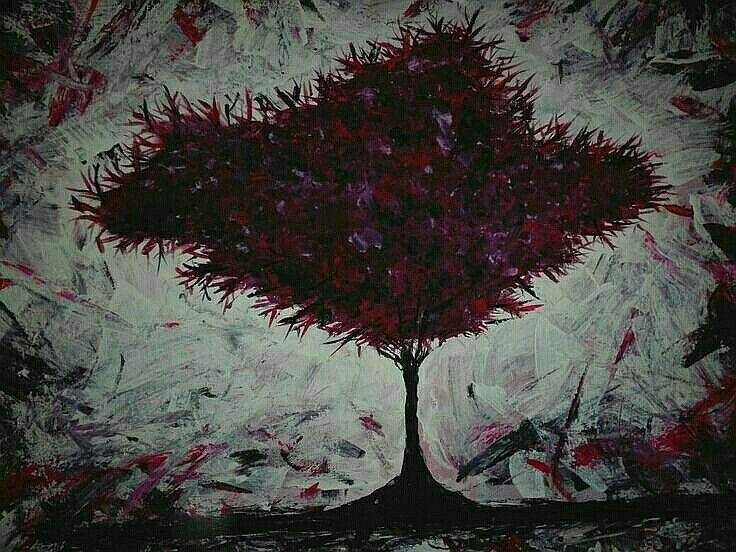 Acrylic tree by Ute Freudemann eigene kunstwerke Pinterest Ute - deko ideen kunstwerke heimischen vier wanden