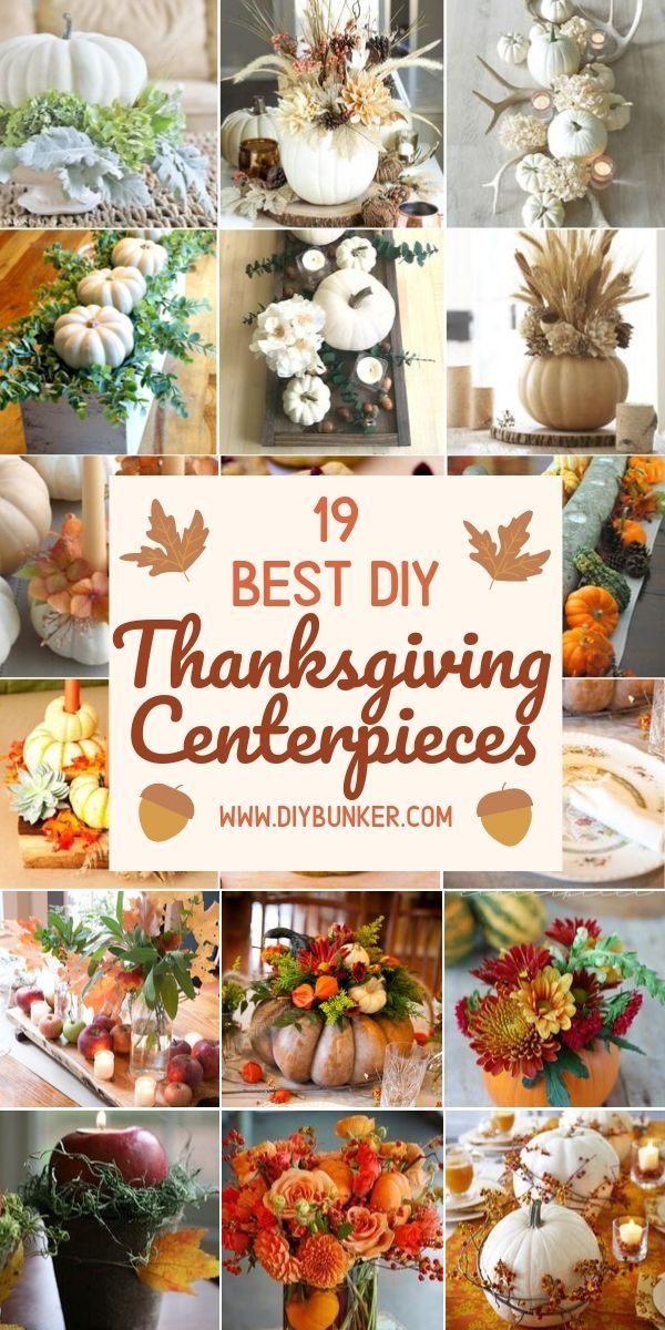 DIY Thanksgiving Centerpieces That Your Guests Will Adore