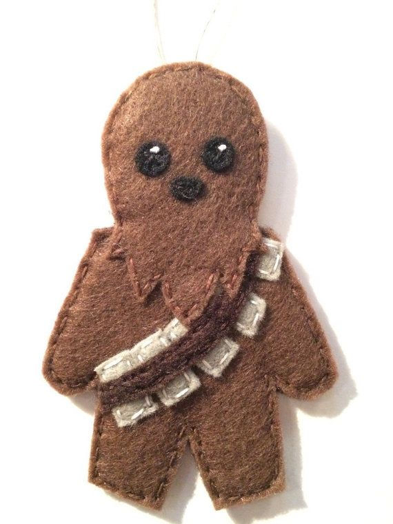star wars felt chewbacca holiday ornament by lumpybuttonsgifts felt pinterest feutrine. Black Bedroom Furniture Sets. Home Design Ideas