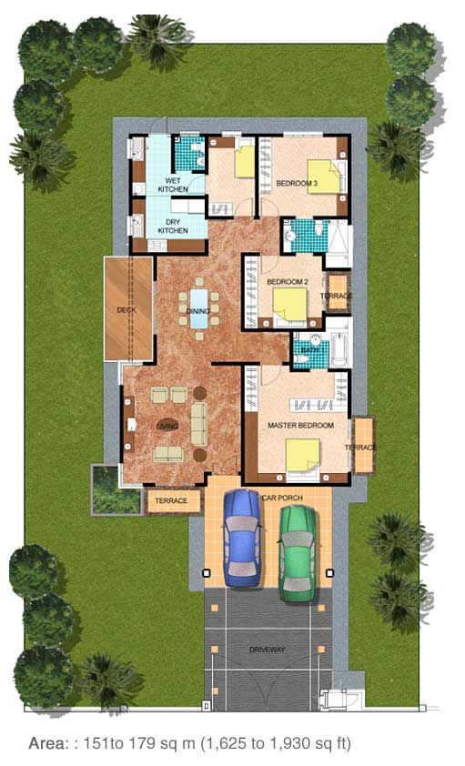 Azalea Jpg 511 842 Single Storey House Plans Bungalow Design House Layouts