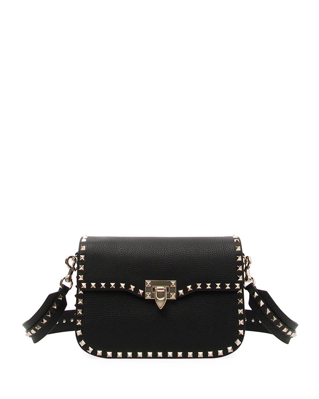Valentino Rockstud Medium Leather Saddle Shoulder Bag g0qycQVH